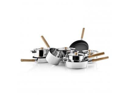 Patelnia sauté z drewnianym uchwytem Nordic kitchen stal nierdzewna Ø 24 cm Eva Solo