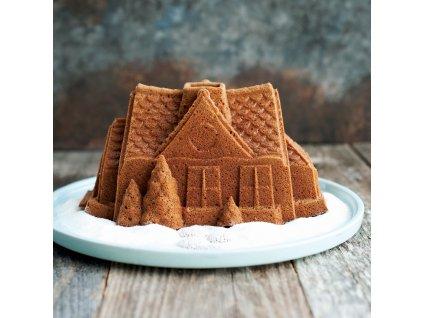 Forma do piernika domek Piernik House Bundt® silver Magazyn nordycki