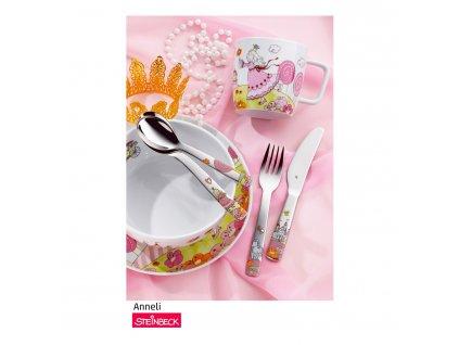 Zestaw dziecięcy do spożywania posiłków 6dílný Księżniczka Anneli WMF