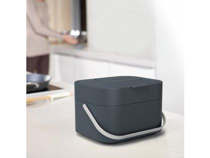 Pojemnik na odpady biodegradowalne Stack 4 szary grafitowy