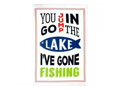 Ścierka kuchenna / ręcznik MÜincotton® gone fishing