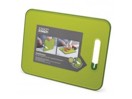 Deska do krojenia z ostrzałką mała zielona Slice&Sharpen™
