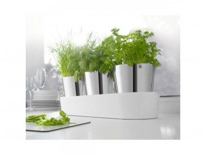 Ogród ziołowy - 3 samonawadniające się doniczki Gourmet WMF