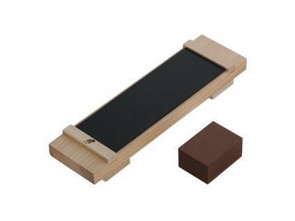 Drewnianna baza Basic Kit dla Materiałów ściernych kamienie MIYABI