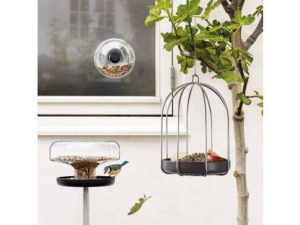 Karmnik dla ptaków na okno