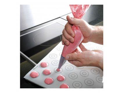 Podkładka silikonowa do makaroników z oznaczeniami 40 x 30 cm de Buyer