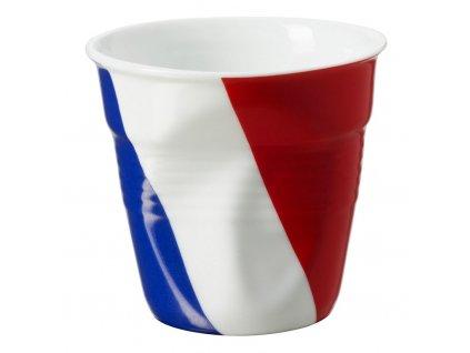 Filiżanka do espresso 8 cl 8 z językiem francuskim flaga Froissés REVOL