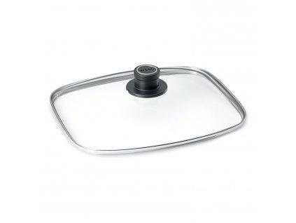 Szklana pokrywa z uchwytem z tworzywa sztucznego 30x26 cm WOL L