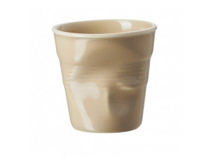 Filiżanka do espresso 8 cl piaskowa Froissés REVOL