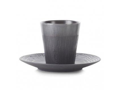 Kubek do espresso 80 ml ze spodkiem lukrecjowy Arborescence