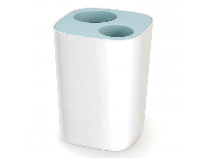 Kosz łazienkowy do segregowania śmieci Split™ biało-niebieski