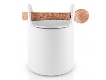 Pojemnik na żywność drewnianą łyżką biała Eva Solo