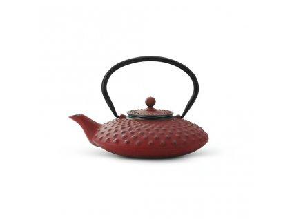 Żeliwny czajnik Xilin Bredemeijer czerwony 800 ml