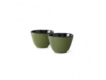 Zestaw żeliwnych filiżanek do herbaty Xilin Bredemeijer zielony 2 szt.