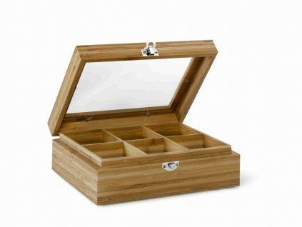 Pudełko na herbatę Bamboo Bredemeijer 6 przegródek