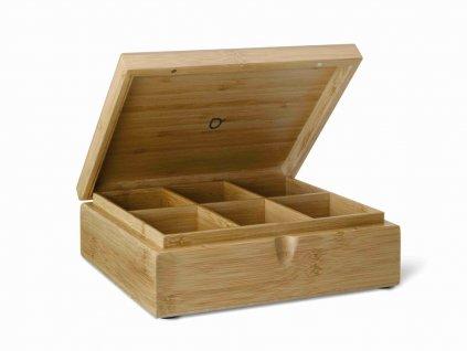 Pudełko na herbatę Bamboo Bredemeijer 6 przegródek 6 bez okna