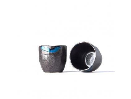 Kubek bez ucha z nieregularnym brzegiem Tea Cup czarny 280 ml MIJ