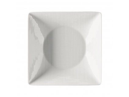 Kwadratowy głęboki talerz Mesh Rosenthal biały 20 cm