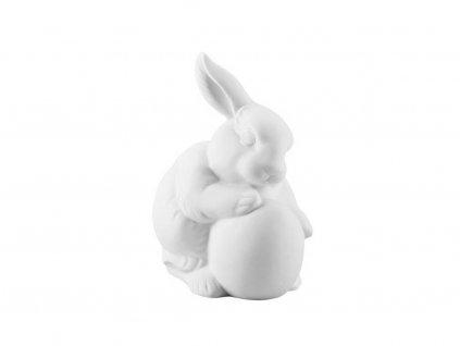 Porcelanowy Kingaik z jajkiem Kolekcja Rabbit Rosenthal biały 10 cm