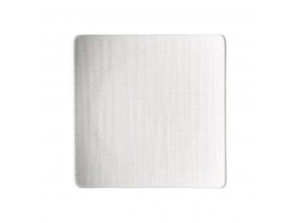 Płaski talerz kwadratowy Mesh Rosenthal biały 14 cm