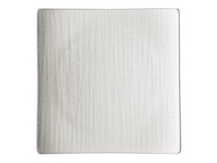 Kwadratowy płytka Mesh Rosenthal biały 22 cm