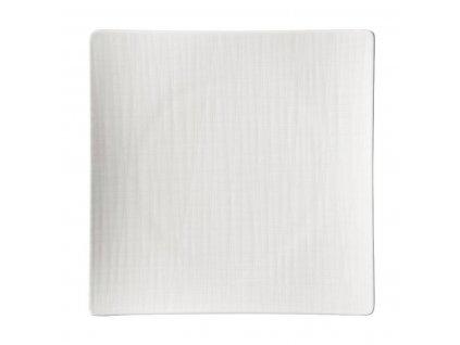 Kwadratowy płytki talerz Mesh Rosenthal biały 27 cm