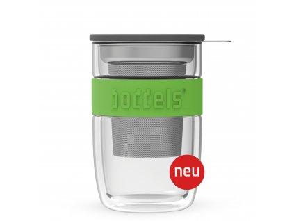 Szklanka do herbaty Seev Boddels zielona 380 ml