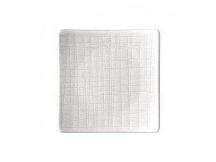 Płytki talerz kwadratowy Mesh Rosenthal biały 9 cm