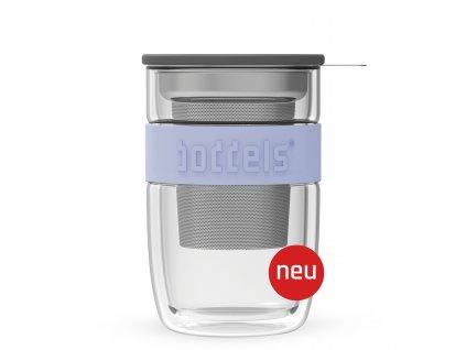 Szklanka do herbaty Seev Boddels lawendowa 380 ml