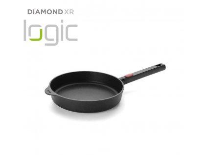 Patelnia uniwersalna Diamond XR Logic Woll z wyjmowanym uchwytem 24 cm