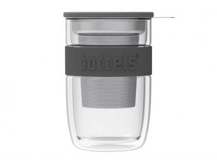 Szklanka do herbaty Seev Boddels ciemnoszary 380 ml