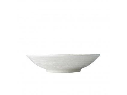 Płytka miska Biała Gwiazda 24 cm 900 ml MIJ