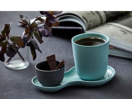 Porcelanowy zestaw do serwowania Kawa i słodycze & Kale Nudge