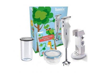 Blender kielichowy BabyLine M200 Bamix biały + pojemnik 400 ml
