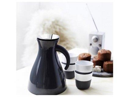Filiżanki termiczne do espresso 80 ml 2 sztuki czarne