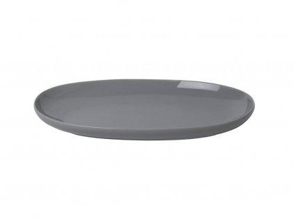 Kuchenny płyta owalna RO Blomus mały siwy