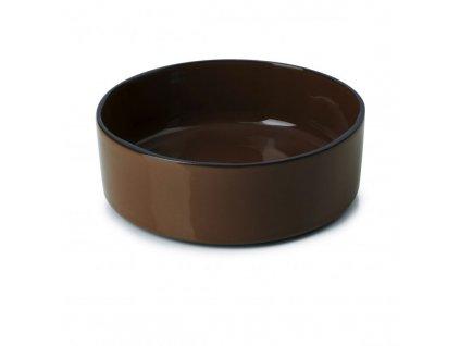 Płytka z wysokim brzegiem Caractere Revol czekolada 14 cm