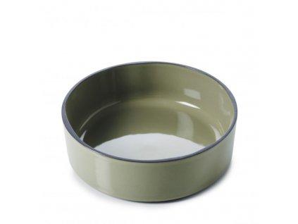 Płytka z wysokim brzegiem Caractere Revol olive 17 cm