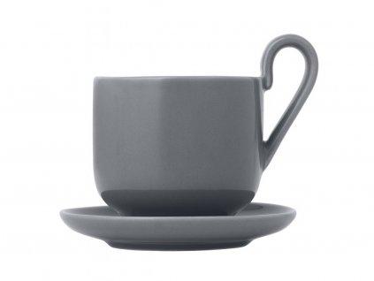 Zestaw filiżanek do espresso z podstawkami Ro Blomus szary 2 szt 2