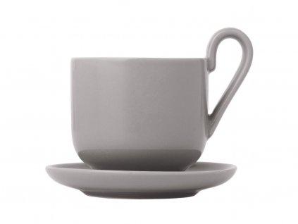Zestaw filiżanek do espresso z podstawkami Ro Blomus ciepły szary 2 szt.