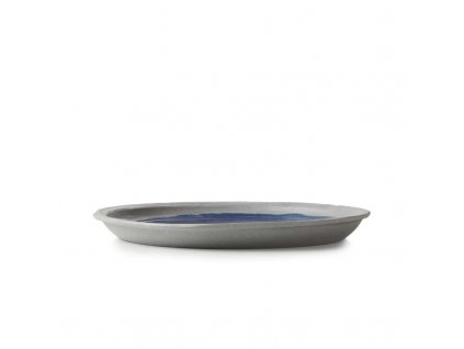 Płytka płyta No.W Revol niebieski glazurowany 21 cm