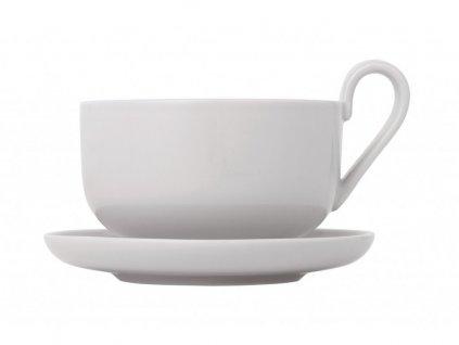 Zestaw filiżanek do herbaty z podstawkami Ro Blomus jasnoszary 230 ml 2 szt.