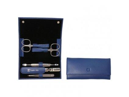 Manicure BT Klasyczny Inox Zwilling niebieska skóra 5 szt 5