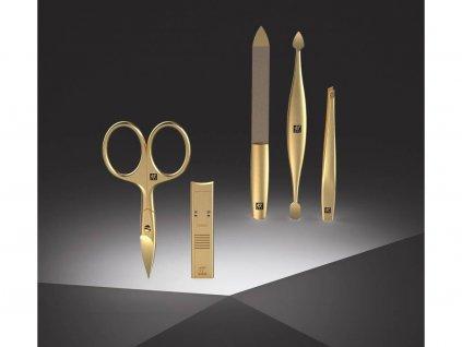 Manicure BT Twinox Złota Edycja Zwilling skóra niebieska 4 szt.