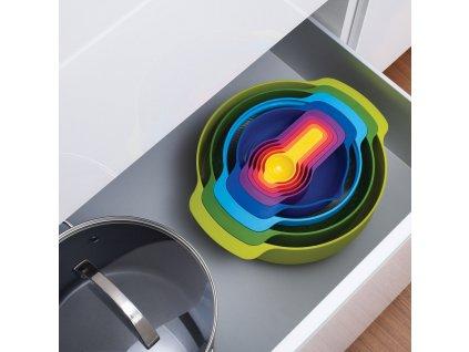 Zestaw sztaplowanych misek i kubków do odmierzania Opal Nest™ 9 Plus Joseph Joseph