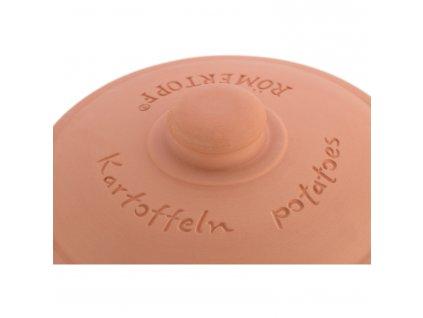 Naczynie do przechowywania ziemniaków okrągłe z pokrywką, naturalna glina®
