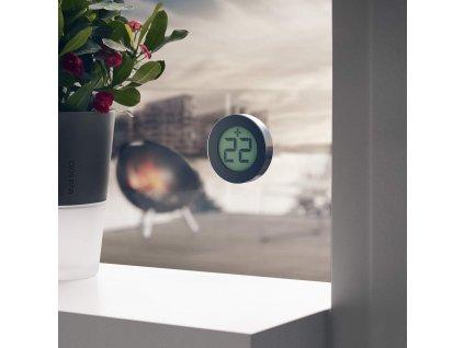Cyfrowy termometr zewnętrzny Ø 8 cm czarny Eva Solo