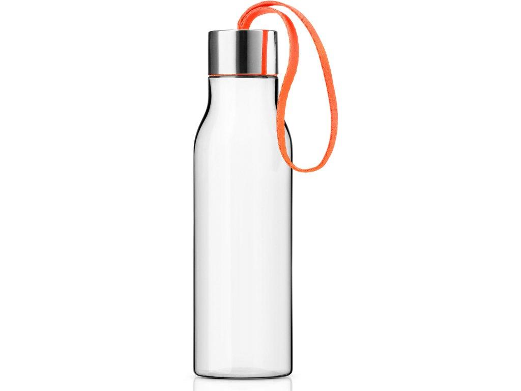 Fľaša na pitie 0,5 l s oranžovým remienkom Eva Solo