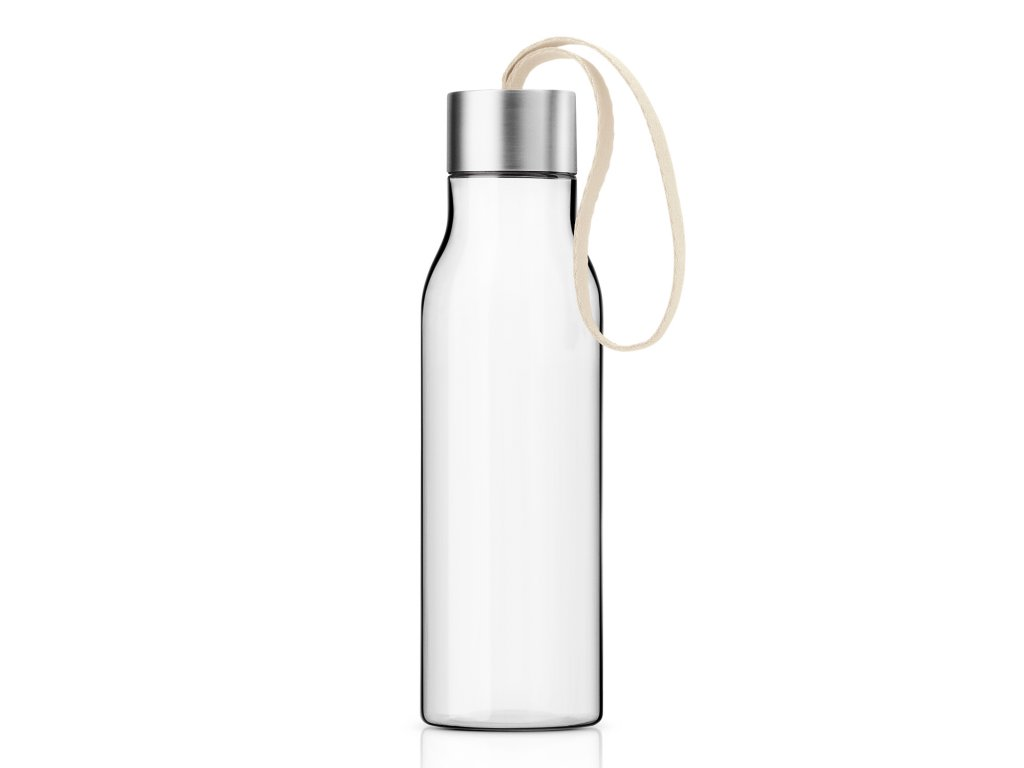 Fľaša na pitie 0,5 l s remienkom v béžovej farbe Eva Solo