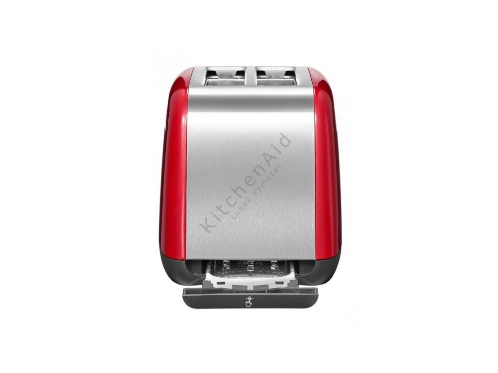 Hriankovač na 2 plátky s priečnymi otvormi kráľovská červená KitchenAid